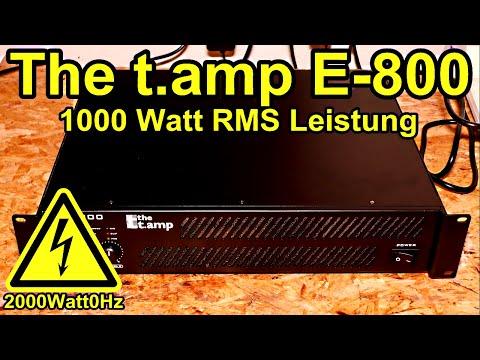 The t.amp E800 1000 Watt Endstufe, Erklärung und Test