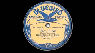Louie Bluie and Ted Bogan Ted's Stomp  BLUEBIRD B 5593 B