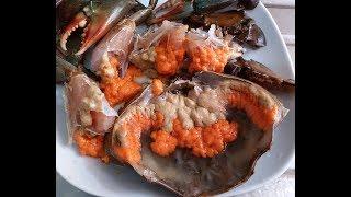 20無限家常便飯:清蒸膏蟹終於買到一隻爆膏的加蟹寄生蟲/心板茗荷Steamedfemalecrabwithcrabparasites