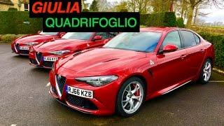 Alfa Romeo Giulia Quadrifoglio: Start Up, Rev, Engine Sound - Inside Lane