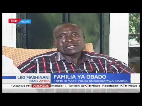 Kesi ya Obado :Familia ya Obado yadai Obado anaandamwa kisiasa