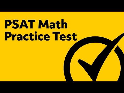 PSAT Test Prep - Math Practice Test - YouTube