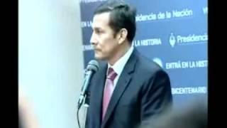 14 JUNIO 2011  Ollanta Declaraciones Luego Del Encuentro Con La Presidenta