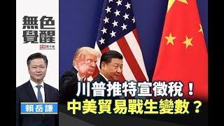 《無色覺醒》 賴岳謙  川普推特宣徵稅!中美貿易戰生變數? 20190508