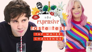 David Dobrik vs Iggy Azalea (& more!) Expensive Water Challenge! 💦 | Expensive Taste Test | Cosmo