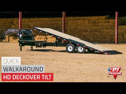 2021 PJ Trailers HD Deckover Tilt (T9) 30 ft. in Kansas City, Kansas - Video 1