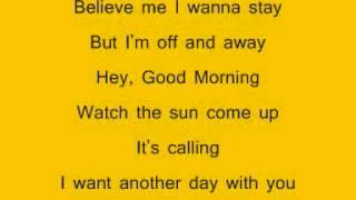 Example watch the sun come up lyrics