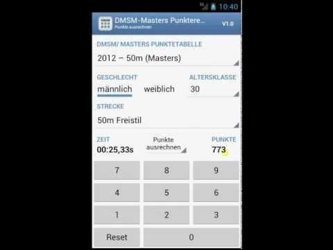 Video of DMSM-Masters Punkterechner
