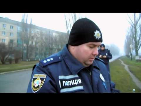 Полиция Покрова остановка мопеда за отсутствие шлема.
