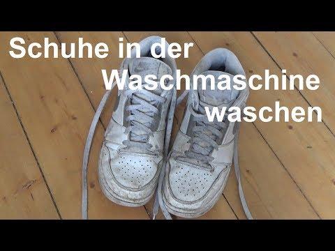 Kann man Turnschuhe in der Waschmaschine waschen Schuhe in Waschmaschine waschen