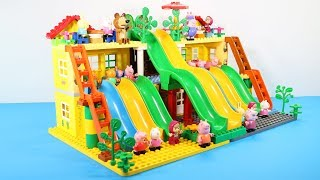 Peppa Pig Building Blocks Lego House Toys - Lego Duplo House Creations Toys For Kids #5