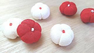 【簡単】🌺梅の花の作り方🌺【ちりめん細工】Handmade Flowers (plum Blossom)craft