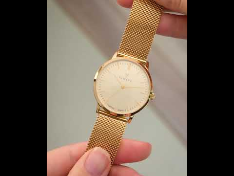 Renard Elite 35.5 watch gold mesh