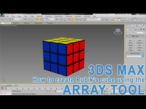 3DS Max Rubik's Cube Tutorial – Array Tool