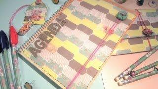 Manualidades para la vuelta al cole: Cómo decorar una agenda. TUTORIAL