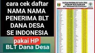Cara cek daftar NAMA-NAMA penerima BLT DANA DESA seluruh indonesia
