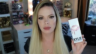 Kylie Jenners Lip Kit Review W/ Check Ins Candy K