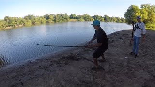 FISHING FOR GAR IN THE TRINITY RIVER