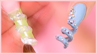 How to Create a 3D Corkscrew Spiral Nail