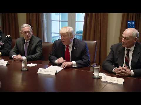 President Trump Participates in a Briefing with Senior Military Leaders