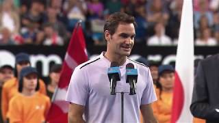 Belinda Bencic and Roger Federer winners speech (Final) | Mastercard Hopman Cup 2018