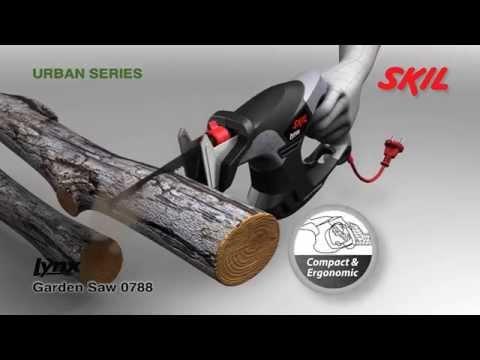 La sierra de jardín Skil Lynx permite podar sin esfuerzo ramas de hasta 80mm de diámetro