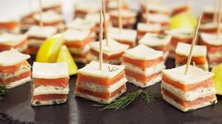 Аппетитно, вкусно, легко и красиво! Слоеные канапе с лососем на праздничный стол от Всегда Вкусно!