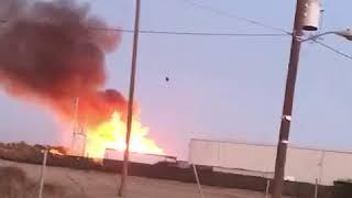 Incendio en un negocio de madera en El Carrizal