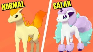 Pokémon Sword & Shield - All Galar Forms Comparison