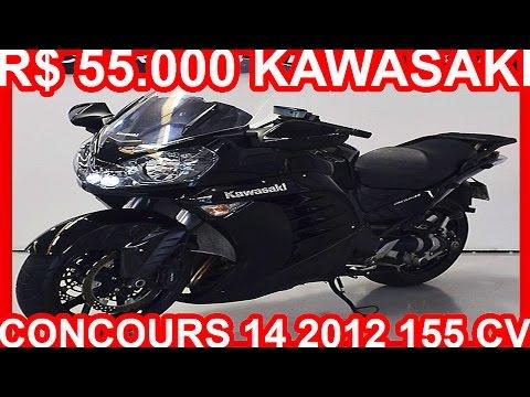 4K PASTORE R$ 55.000 Kawasaki Concours 14 2012 Preta MT6 1352 cc 16v 155 cv 0-100 kmh 4 s #KAWASAKI