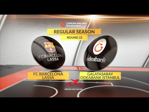 EuroLeague Highlights RS Round 22: FC Barcelona Lassa 62-69 Galatasaray Odeabank Istanbul