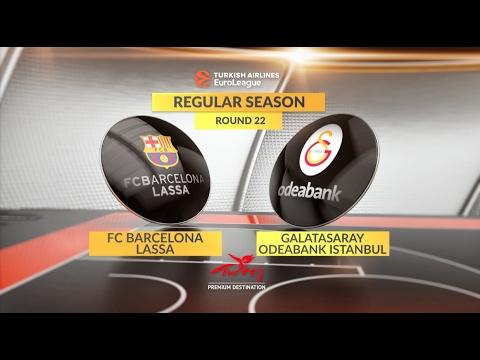 EuroLeague Highlights RS Round 22: FC Barcelona Lassa 62-69 Galatasaray Odeabank Istanbul