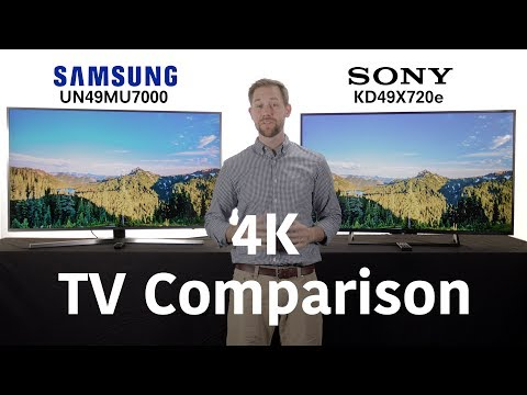 4K TV Comparison: Sony X720E vs. Samsung MU7000