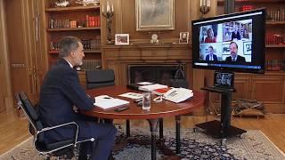 Videoconferencia S.M. el Rey con una representación de Alianza de la Sanidad Privada Española - ASPE