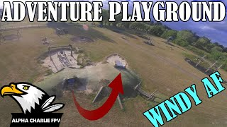 Adventure Playground - FPV Freestyle IN 40 MPH WINDS!! фото