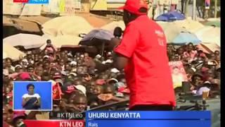 Rais Uhuru Kenyatta azidisha kampeini katika maeneo ya Muranga akiomba kura