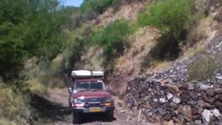 Driving through Nech Sar national park, Ethiopia