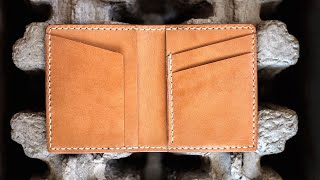 Crafting A Slim Leather Wallet That Holds Cash