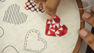 Hand Embroidery Designs | HEART EMBROIDERY SAMPLER FOR BEGINNERS