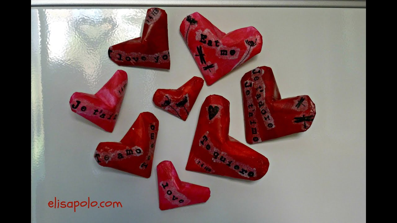 Manualidades para San Valentin, Corazón Imán, Heart Magnet, Valentine's Day