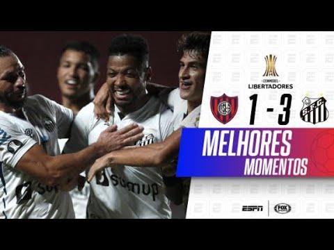 ELE TEM 16 ANOS E MARCOU NA LIBERTADORES! Melhores momentos de San Lorenzo 1 x 3 Santos