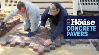 How to Build a Concrete Paver Walkway | This Old House