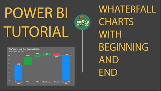 Power BI & DAX Tutorial: Waterfall charts with beginning and end states in 5 minutes