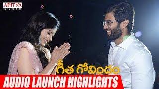 Geetha Govindam Audio Launch Highlights | Vijay Devarakonda, Rashmika Mandanna | Gopi Sundar