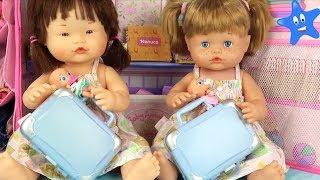 Ani y Ona NENUCO estrenan maletas y las llenamos de cosas super bonitas Muñecos Bebé
