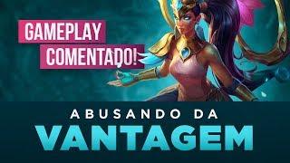 ABUSANDO DA VANTAGEM   GAMEPLAY COMENTADO (KARMA D2 LOL BR SOLOQ)