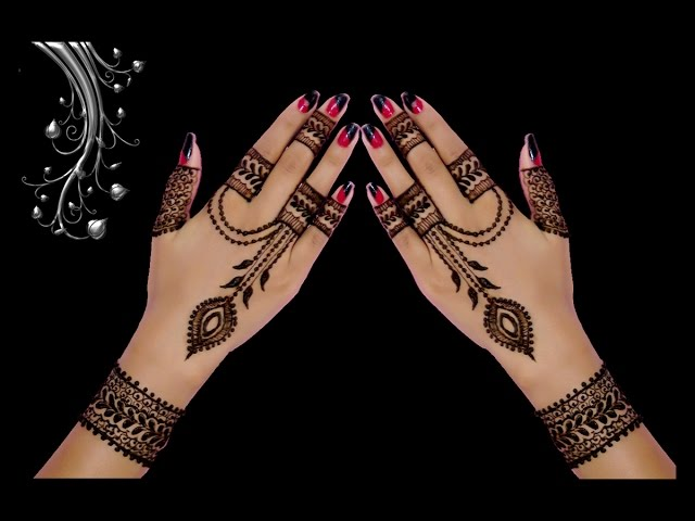 Beautiful Henna Mehndi Jewellery : Attractive ornament jewellery style back anklet