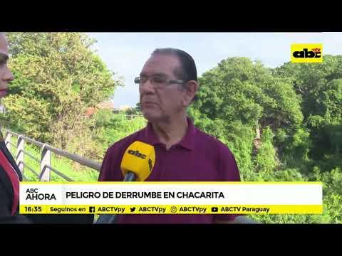 Peligro de derrumbe en la Chacarita