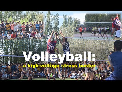Volleyball: a high-voltage stress buster