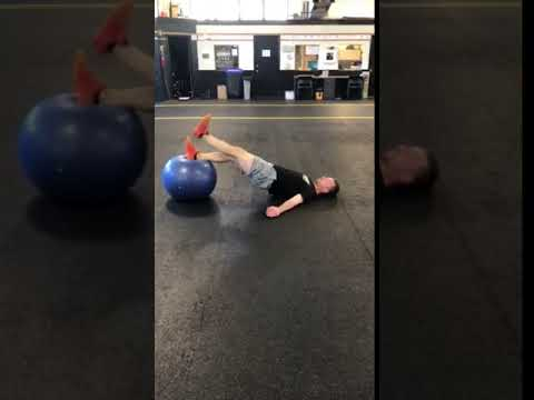 2 to 1 Leg Stability Ball Hamstring Curl